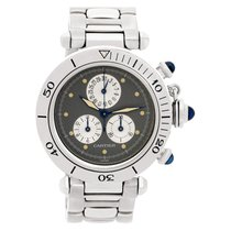 Cartier Pasha Chronograph 1352-1 Stainless Steel Blue dial...