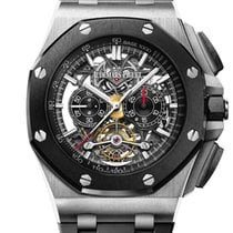Audemars Piguet Royal Oak Offshore Tourbillon Chronograph Titanium 44mm Black No numerals