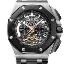 Audemars Piguet Royal Oak Offshore Tourbillon Chronograph Титан 44mm Черный Без цифр