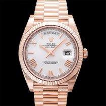 Rolex Day-Date 40 Oro rosa 40.00mm Blanco
