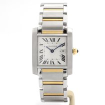 Cartier 2485 Steel Tank Française 30mm pre-owned