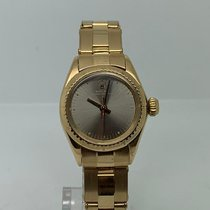 Rolex Oyster Perpetual 26 Yellow gold 26mm Grey