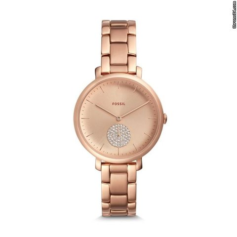 331953e1e4a2 Fossil Ladies' Jacqueline Three-Hand Rose Gold Tone Stainless... for $127  for sale from a Seller on Chrono24