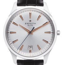 Zenith Captain Central Second Steel 40mm Silver