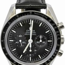 Omega Speedmaster Professional Moonwatch pre-owned 42mm Black Chronograph Tachymeter Leather