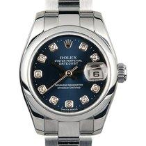 Rolex Lady-Datejust Acier 26mm Bleu