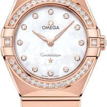 Omega Rose gold Quartz Mother of pearl 28mm new Constellation Quartz