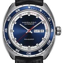 Hamilton Pan Europ Acier 42mm Bleu