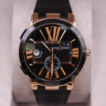 Ulysse Nardin Executive Dual Time Rose gold 43mm Black Roman numerals