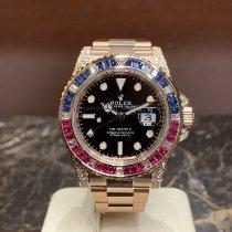 Rolex GMT-Master II Oro rosado 40mm Negro Sin cifras