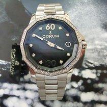 Corum Acero Automático Negro 38mm nuevo Admiral's Cup Legend 38