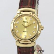 Rolex Cellini Ladies 6621 Diamond Dial 18kyg