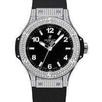 Hublot 361.SX.1270.RX.1704 Big Bang 38mm in Steel with Diamond...