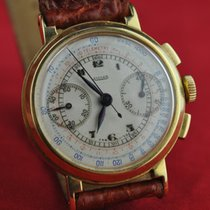 Jaeger-LeCoultre Superb 1940's Vintage JAEGER Chronograph Man. Wind 18k Gold Very good Yellow gold 31mm Manual winding
