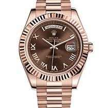 Rolex Day-Date II Chocolate Dial 218235