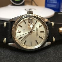 Rolex Datejust - 1601 - Silver Dial - Leather Strap - 1976