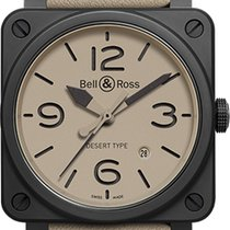 Bell & Ross Ceramic Automatic Champagne Arabic numerals 42mm new BR 03