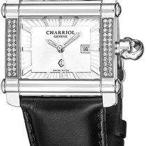 Charriol Steel 28mm Quartz CCHLD361H001 new