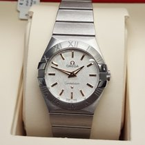 Omega Constellation Quartz Steel 27mm Silver No numerals