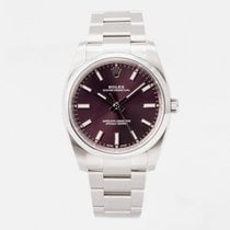 Rolex Oyster Perpetual 34 Steel 34mm Purple Arabic numerals United Kingdom, Guildford,Surrey