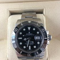 Rolex Ceramic Automatic Black No numerals 40mm pre-owned Submariner Date