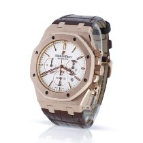 Audemars Piguet Royal Oak Chronograph pre-owned 41mm White Chronograph Date Crocodile skin