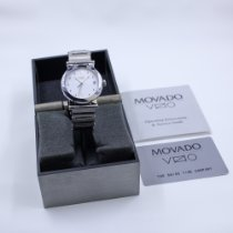 Movado Vizio Staal 35mm Wit Romeins