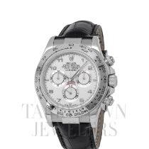 Rolex Daytona White gold 40mm White Arabic numerals