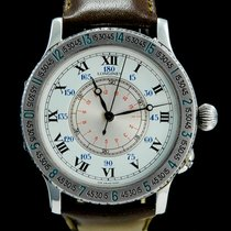 Longines Steel Automatic White Roman numerals 38mm pre-owned Lindbergh Hour Angle