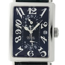 Gevril Avenue Of Americas GMT Power Reserve Black Dial