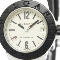 불가리 (Bulgari) Aluminum Rubber Quartz Mid Size Watch Al32a...