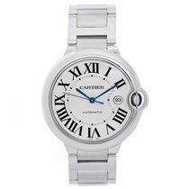 Cartier Ballon Bleu Men's 42mm Stainless Steel Automatic Watch...