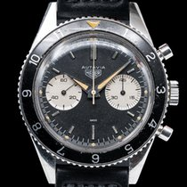 Heuer Chronograph 38mm Manual winding pre-owned Black