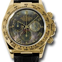 Rolex Yellow gold Automatic Mother of pearl Roman numerals 44mm pre-owned Daytona