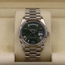 Rolex Day-Date 40 White gold 40mm Green Roman numerals United States of America, Tennesse, Nashville