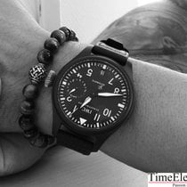 IWC Big Pilot Top Gun Керамика 48mm Чёрный Aрабские