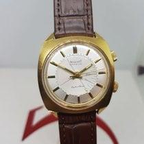 Benrus Zlato/Zeljezo 35mm Rucno navijanje Benedict Mans Alarm  Wristwatch Super deluxe Park -0- phon rabljen