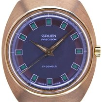 Gruen Mans Wristwatch Precision Day - Night Jump - Hour