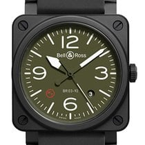Bell & Ross BR 03-92 Ceramic new Automatic Watch with original box BR03-92MILITARYTYPE