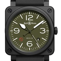 Bell & Ross BR 03-92 Ceramic new Automatic Watch with original box and original papers BR03-92MILITARYTYPE