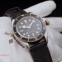 Tudor Heritage Black Bay 79733N 18k Gold Bezel David Beckham...