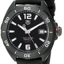 TAG Heuer Formula 1 Calibre 5 Black Rubber Straps Men's Watch...