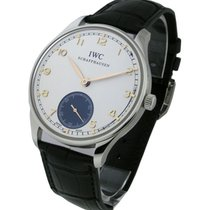 IWC IW545405 Portuguese Hand-Wound - Stainless Steel on Strap...