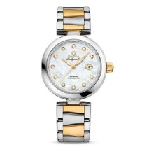 Omega De Ville Ladymatic Gold/Steel 34mm Mother of pearl No numerals United States of America, New York, New York
