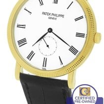 百達翡麗 MINT  Calatrava 18K Yellow Gold 36mm 5119 5119J-001 White...