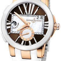 Ulysse Nardin 246-10-3/30-05 Gold/Steel Executive Dual Time Lady 40mm new