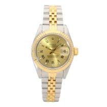 Rolex Lady-Datejust Złoto/Stal 26mm Złoty Rzymskie