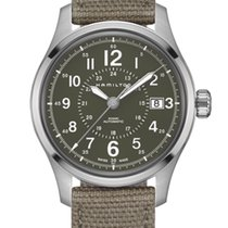 Hamilton Steel Automatic Green 40mm new Khaki Field