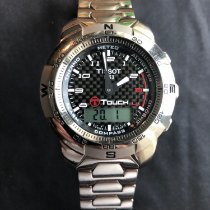 Tissot Chronograph 42mm Quartz 2009 pre-owned Touch (Submodel) Black