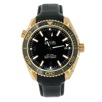 Omega Rose gold Automatic Black Arabic numerals 42mm new Seamaster Planet Ocean